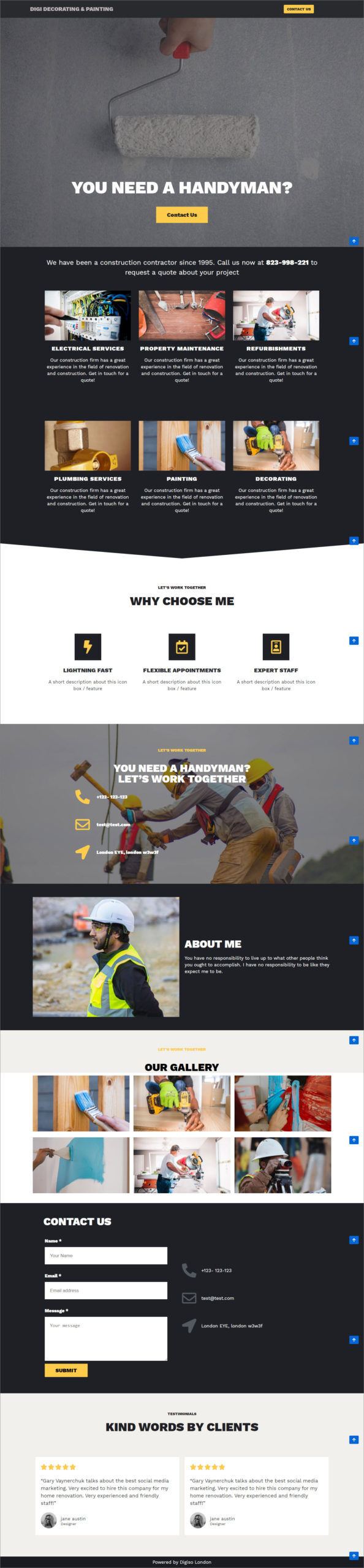 Website For Decorating Business