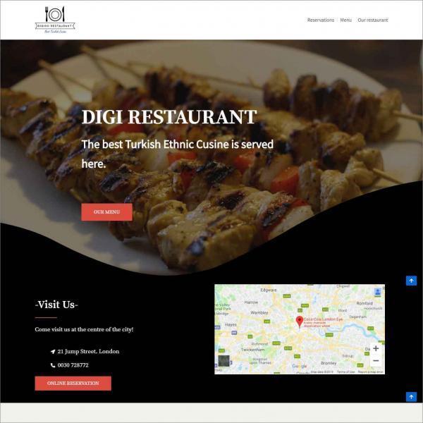 Digiso, Website For Restaurant