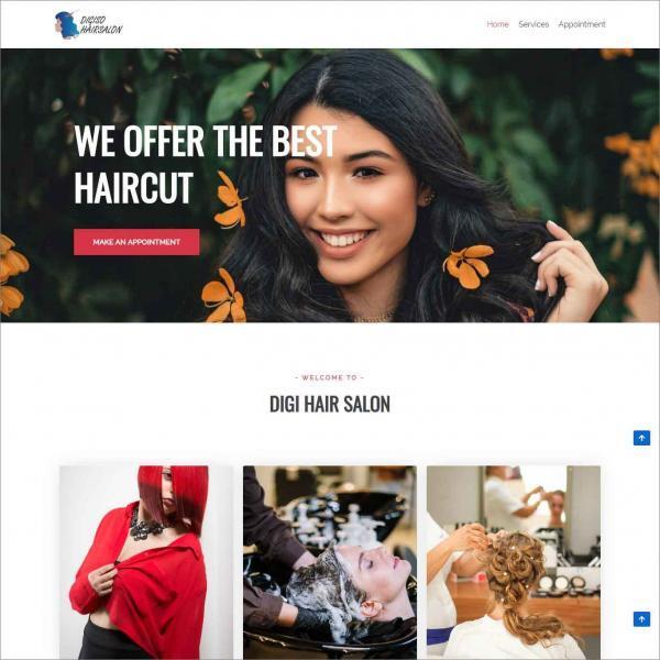 Digiso, Website For Hairsalon Business