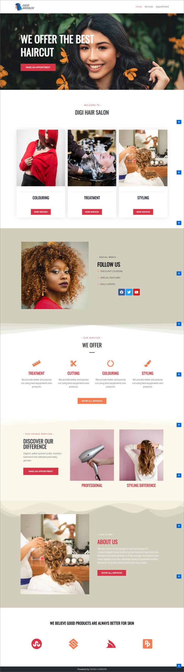 Website For Hairsalon Business
