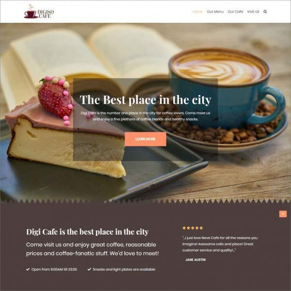 Digiso, Website For Coffee Shop