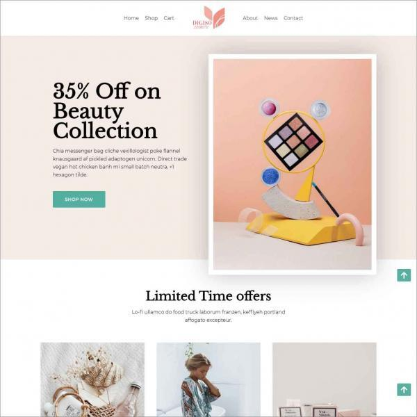Digiso Ecommerce Website For Cosmetic Shop