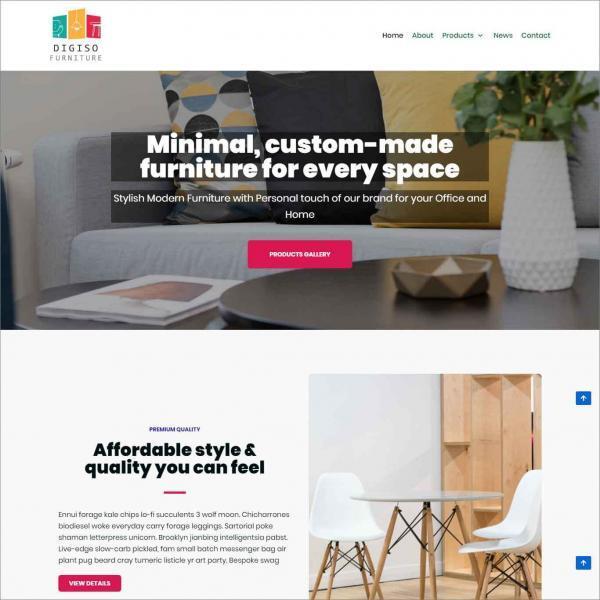 Digiso Ecommerce Website For Furniture Shop