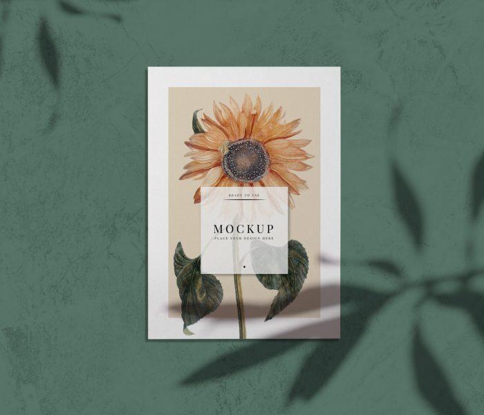 Ready to use sunflower card mockup